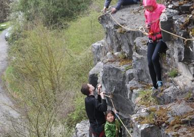 Voies d'escalade: Grimpe au Château